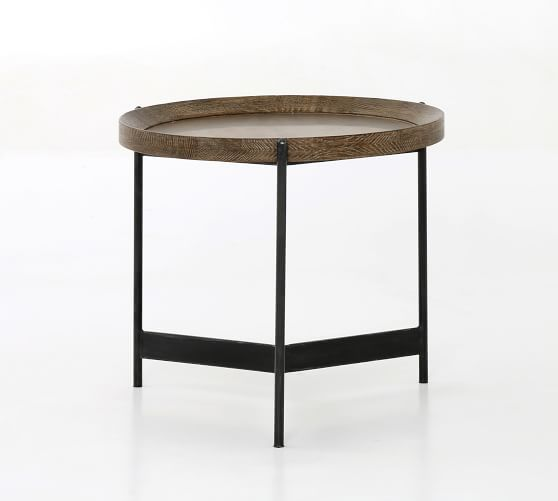 Norcross Round End Table In 2020 Coffee Table End Tables Reclaimed Wood Coffee Table