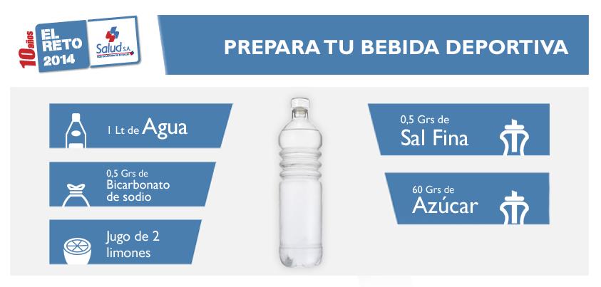 Crea tu propia bebida deportiva, así mantendrás una buena hidratación antes de una competencia de aventura como el #RetoSaludsa.