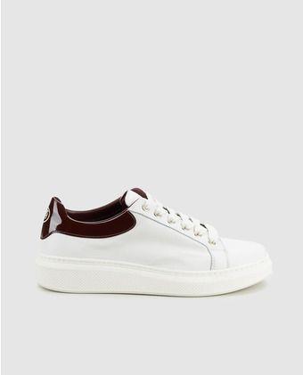 aae0445c229 Zapatillas deportivas de mujer Tommy Hilfiger blancas con detalle charol