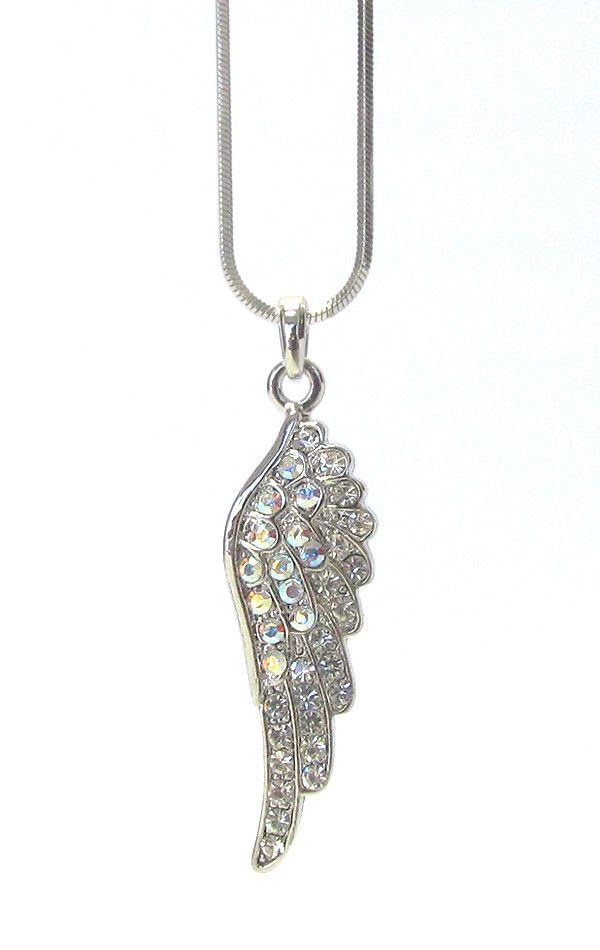 Buy Cheap X Crystal Gold Plated Crystal Angel Necklace Jewelry & Watches