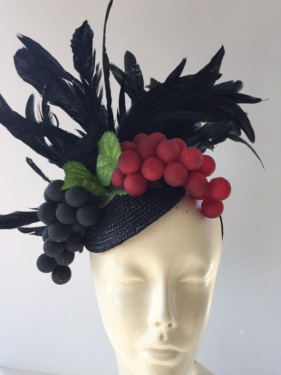 Wine Headband- grape Fascinator - wine grapes fascinator- foodie gift-  foodie- wine fascinator- food and beverage festival -i love wine-Wine 77e8af82c37