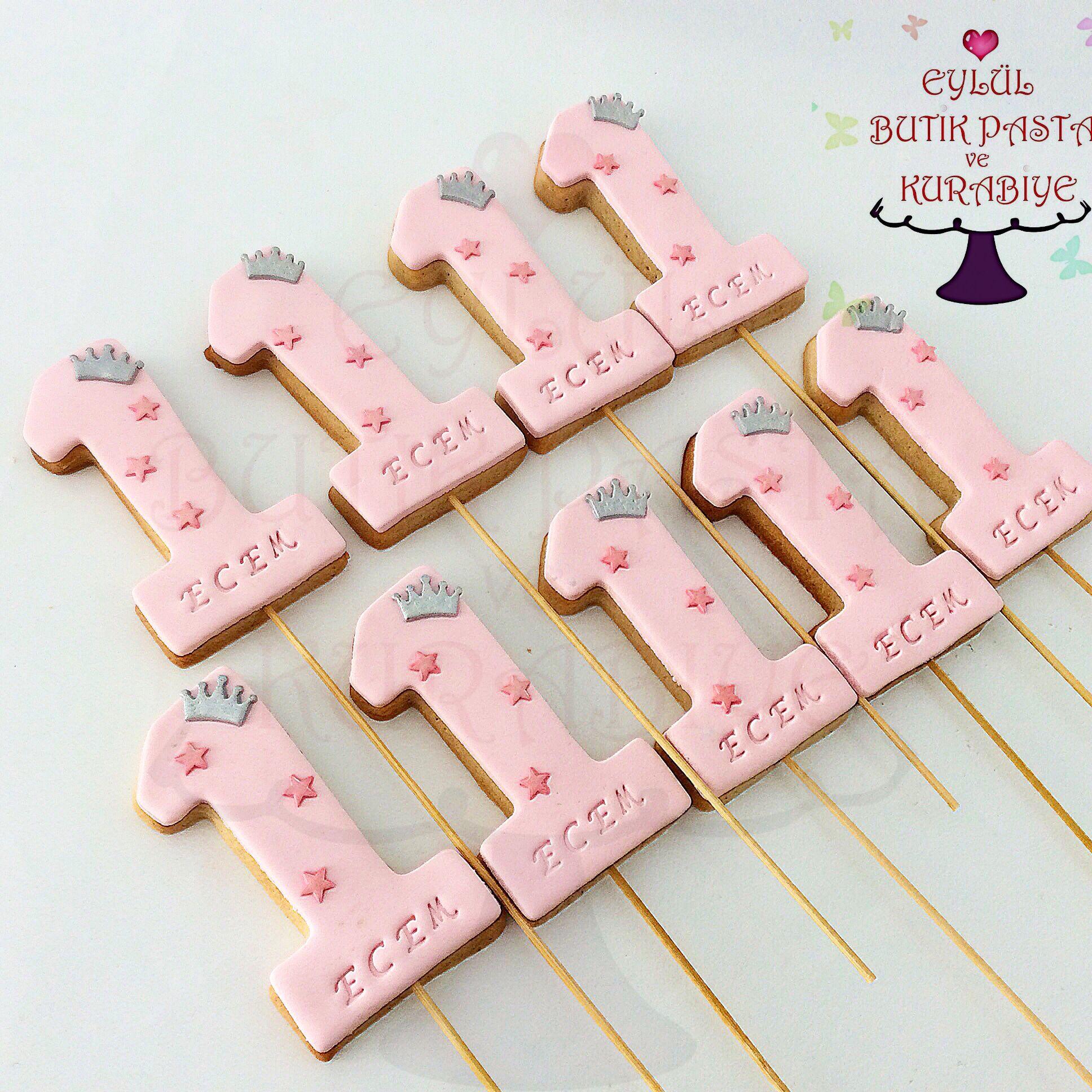 1 yas kurabiyeleri #doğumgünüpartileri