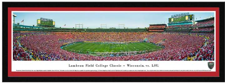 Wisconsin Badgers College Classic At Lambeau Field Framed