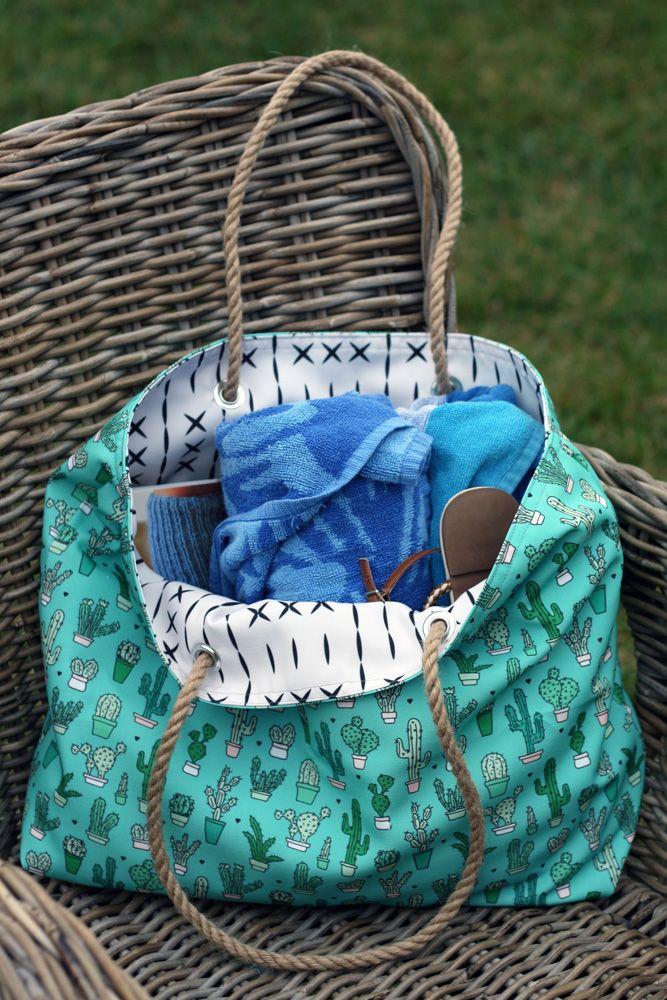 strandtasche mit liebe selbstgemacht pinterest. Black Bedroom Furniture Sets. Home Design Ideas