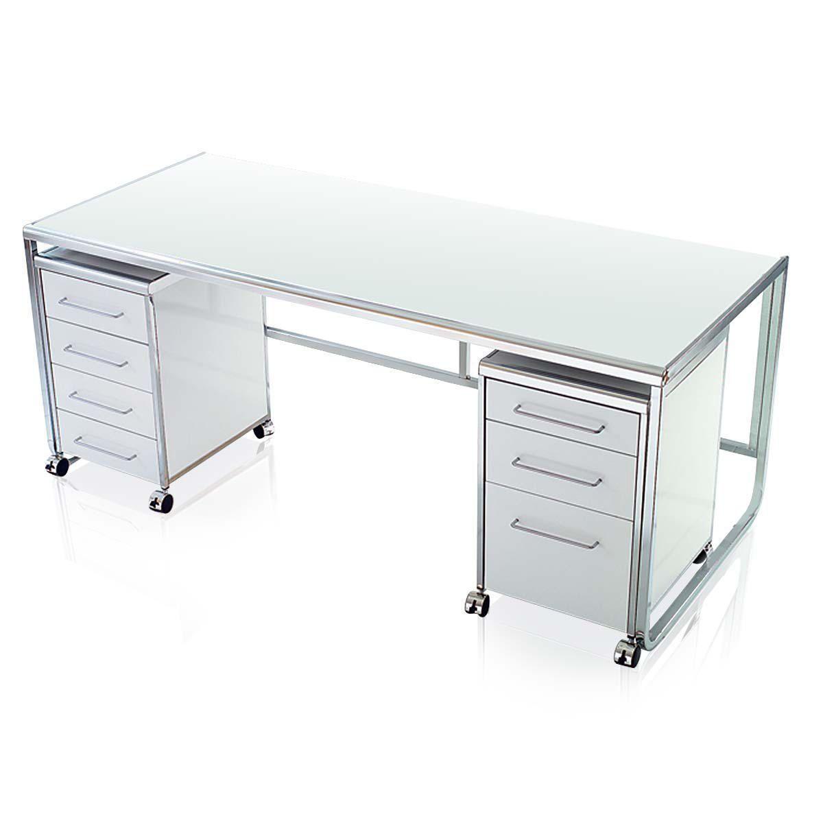 Schreibtisch Sydney, hochglanz, Metall, Faserholz online kaufen bei ...