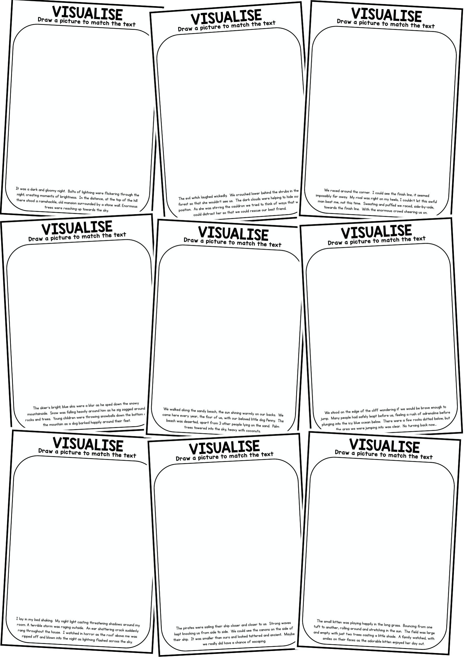 Visualizing Visualising Reading Worksheet Pack Reading Worksheets Reading Strategies Reading Pictures [ 2249 x 1589 Pixel ]