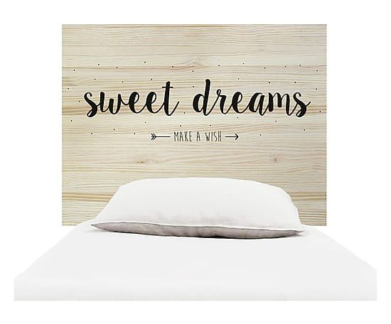 Testiera letto in legno Sweet Dreams naturale e nero, 105x80x3 cm  Camera bambini  Pinterest ...