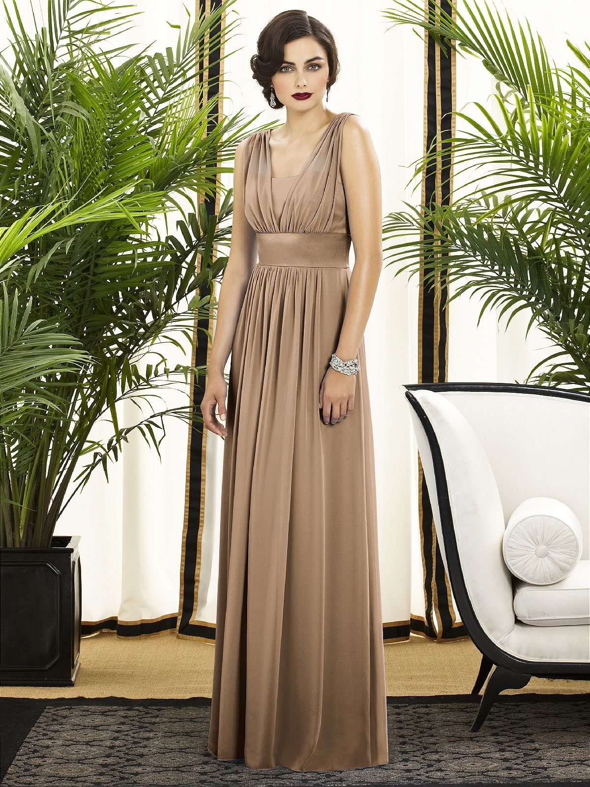 459b04b18220 Dessy Bridesmaid Dresses - Style 2890 in Cappuccino | Vintage/Rustic ...