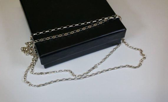 905 cm/24 mm Erbskette Silber 925 Vintage HK219 von Schmuckbaron