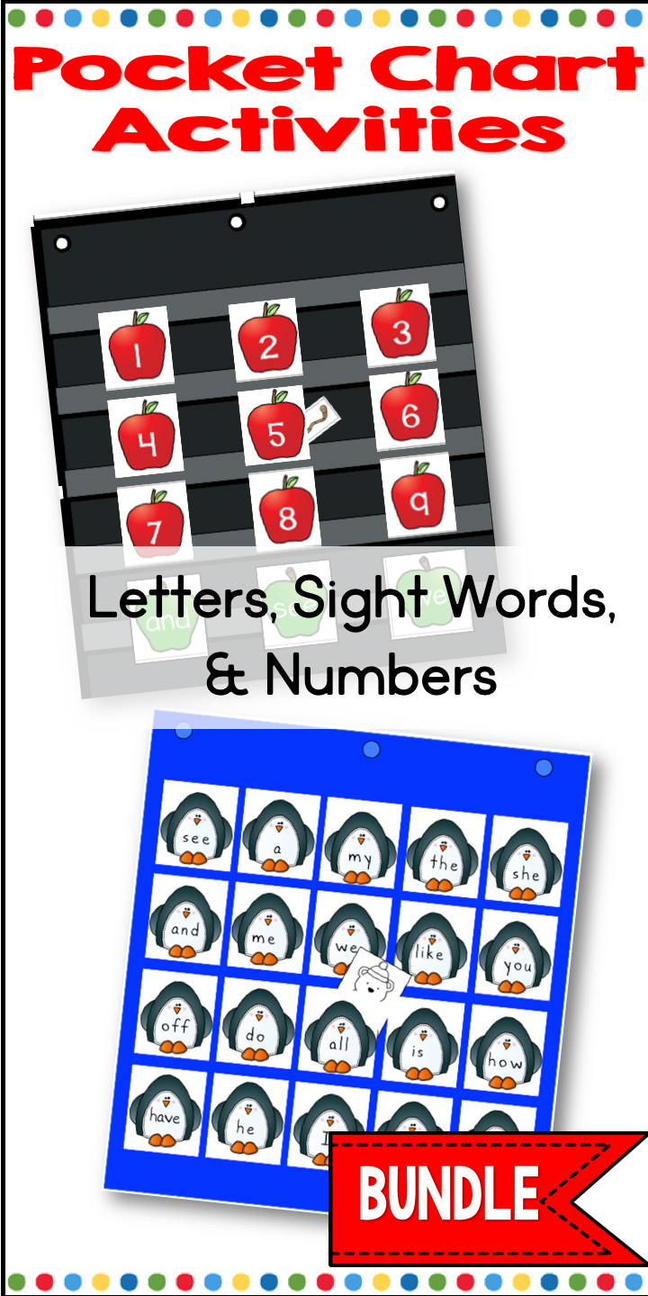 Pocket Chart Activities Letters, Sight Words and Numbers