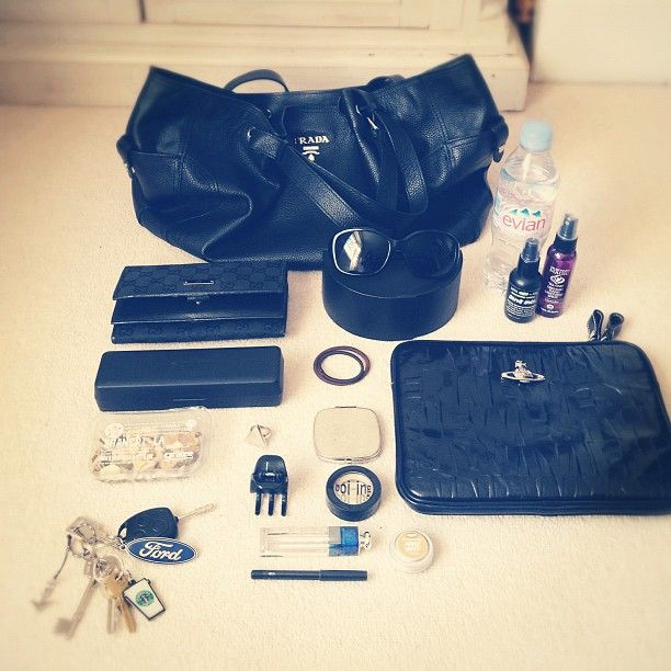 "@missbosson's photo: ""What's in my bag? (as seen on http://sarahbosson.com/that-old-chestnut/)  @glossyboxuk #myglossyhandbag"""