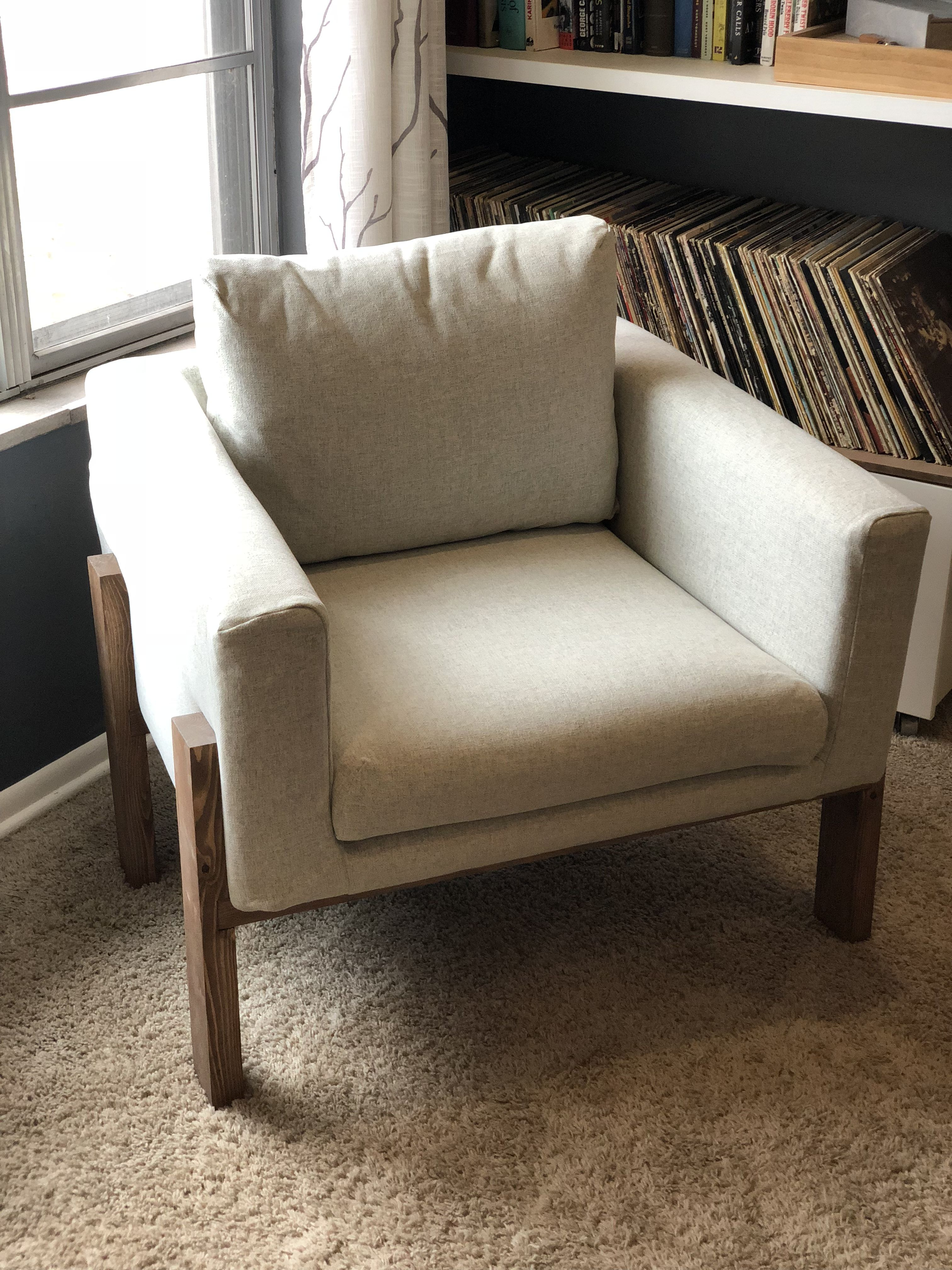 IKEA Koarp chair with new legs Chair design, Arm chairs