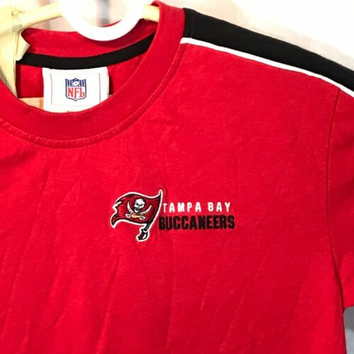 Tampa Bay Buccaneers Nfl Shirt Embroidered Red Youth 10 12 New Football Flag In 2020 Tampa Bay Buccaneers Nfl Shirts Flag Football