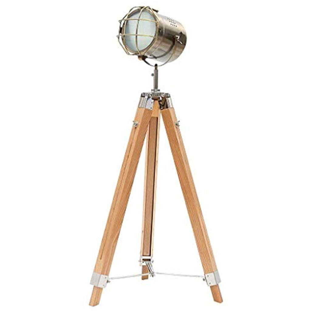 Xuanlan Kreative Stehleuchte Industrie Vintage Boden Tischstativ Lampen Holzstander Lampenschwarz Antiquitat Home Decor Scheinwerfer Mit Bildern Lampen Stativ Beleuchtung