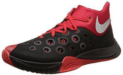 2bd2de522f6 NIKE Men s Zoom Hyperquickness 2015 Basketball Shoe Black University  Red Silver Size 11 M