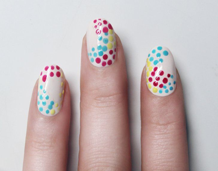 Pin for Later: A Toothpick Is All You Need to Get This Bright, Polka-Dot Nail Art