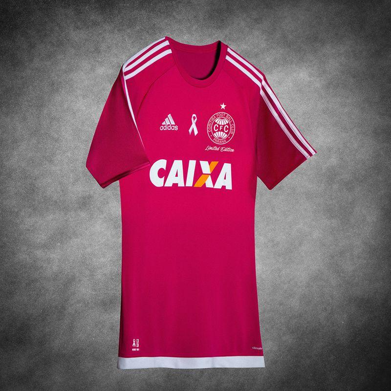 2f11f7fd8b Camisa rosa do Coritiba 2016 Adidas Outubro Rosa