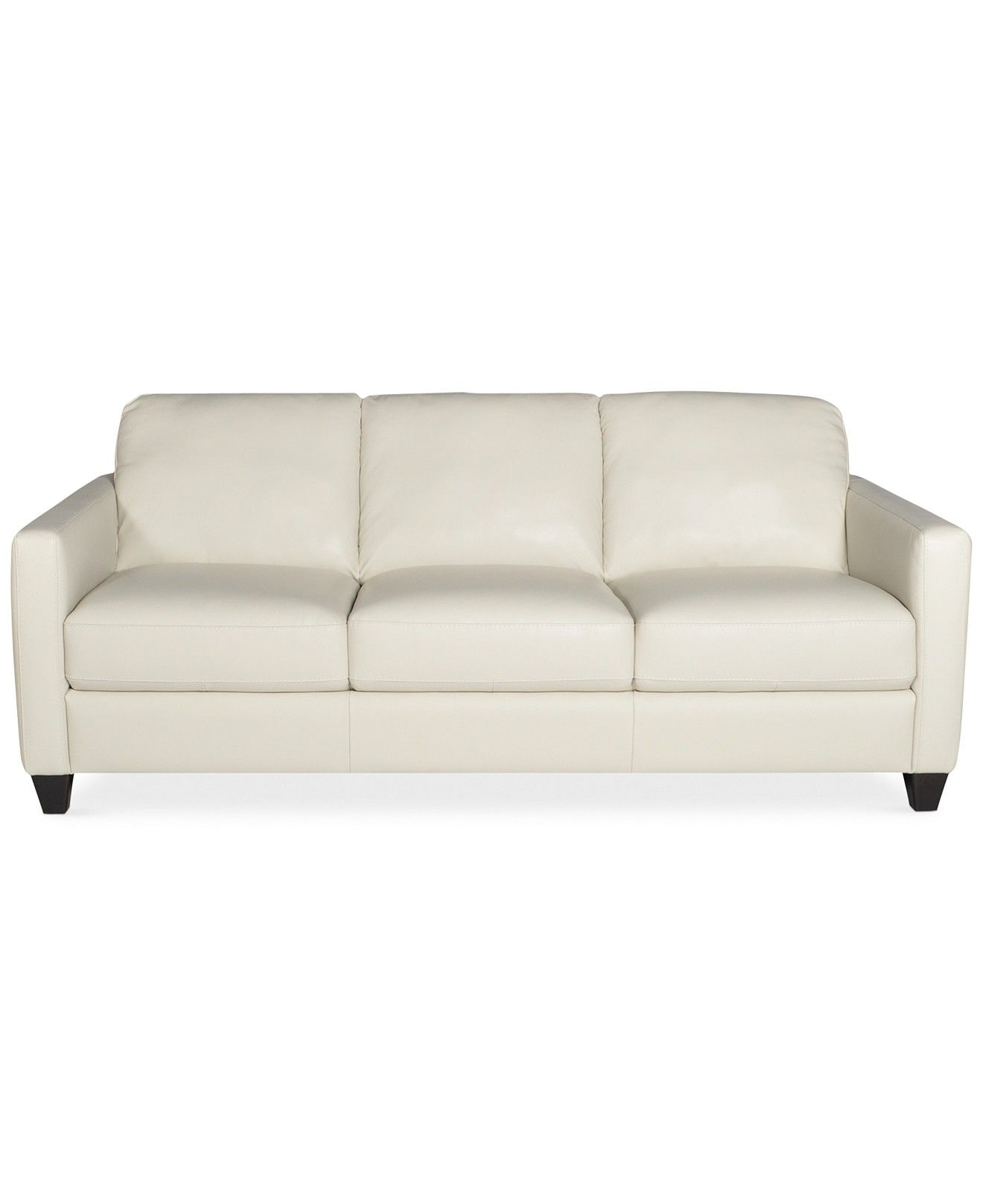 Emilia Leather Sofa Couches & Sofas Furniture Macy s