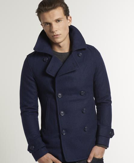 Superdry Commodity Slim Pea Coat | Men&39s style | Pinterest | Coats