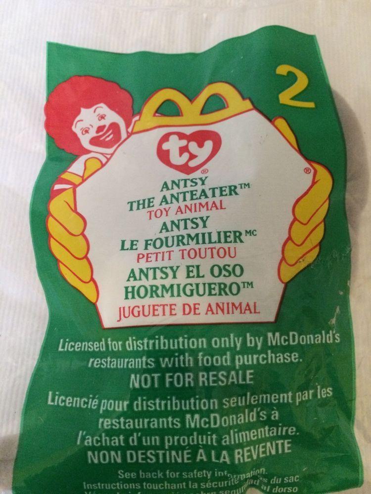 99767838c18 McDonald s Ty teenie beanie baby ANTSY the ANTEATER   2 Toy Animal 1999  Ty