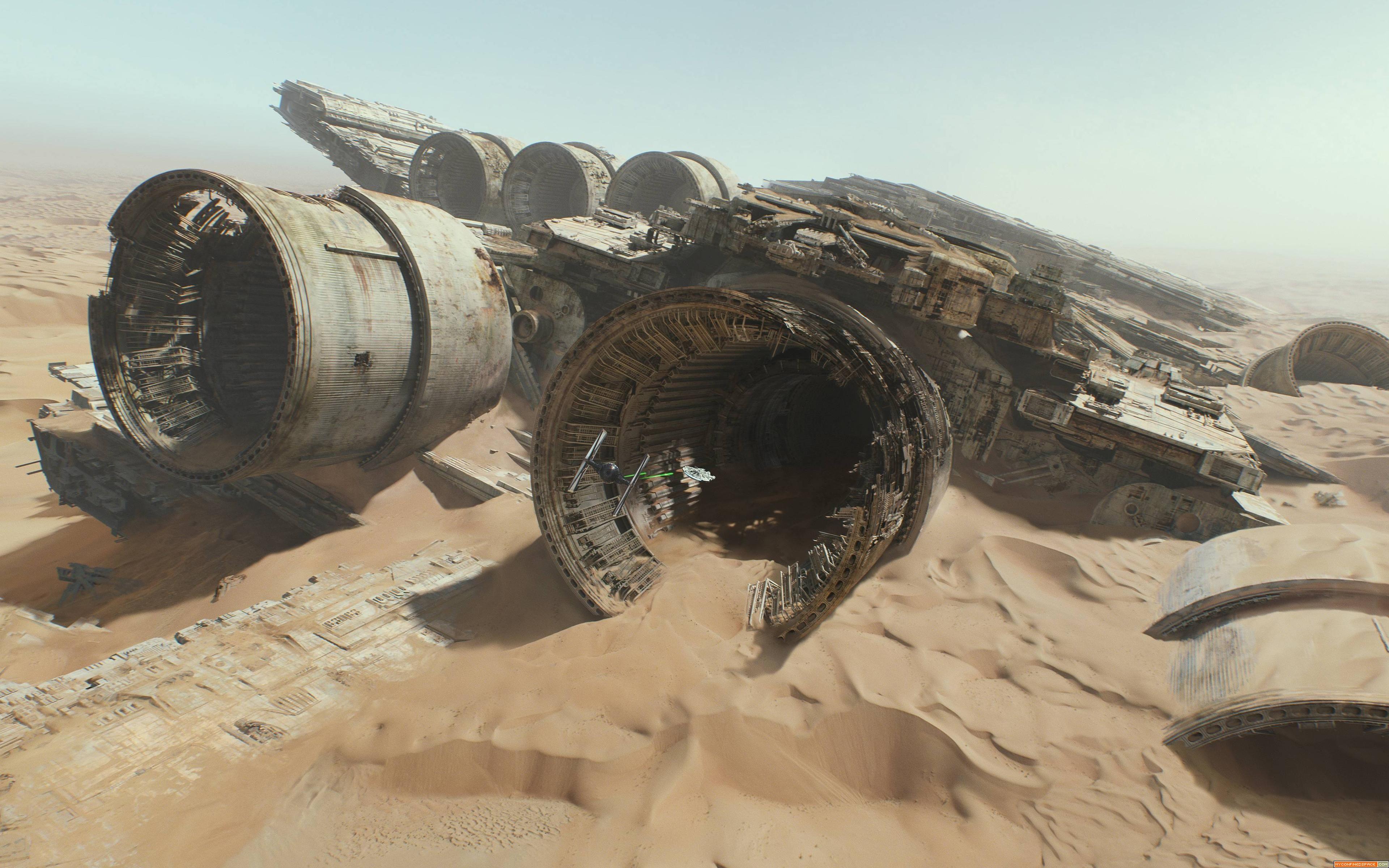 Chase On Jakku Wallpaper Star Wars The Force Awakens Screenshot