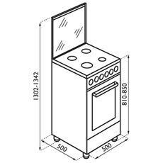 REGAL - Cucina Elettrica RC153XS Regal 4 Fuochi a Gas Forno ...