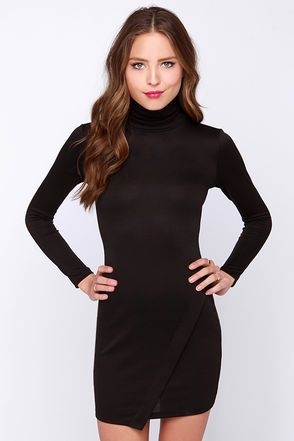 87c3fd3147 Exclusive Perfect Timing Black Long Sleeve Dress