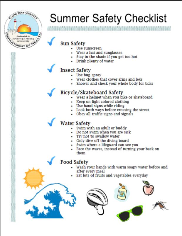 Safety Report Sample Summer Safety Checklist Google Search Summer