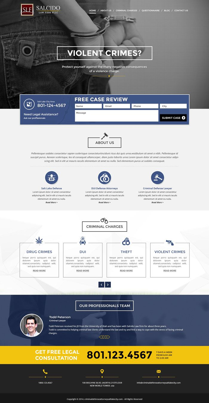 22 Law Firm Websites For Your Inspiration Designyep Law Firm Website Law Firm Web Development Design