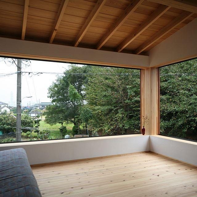 開放的な大開口の窓 平屋 愛知県注文住宅 新築 名古屋工務店 愛知県