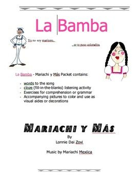 la bamba mariachi music mp3 worksheets and pictures to learn spanish teaching music. Black Bedroom Furniture Sets. Home Design Ideas
