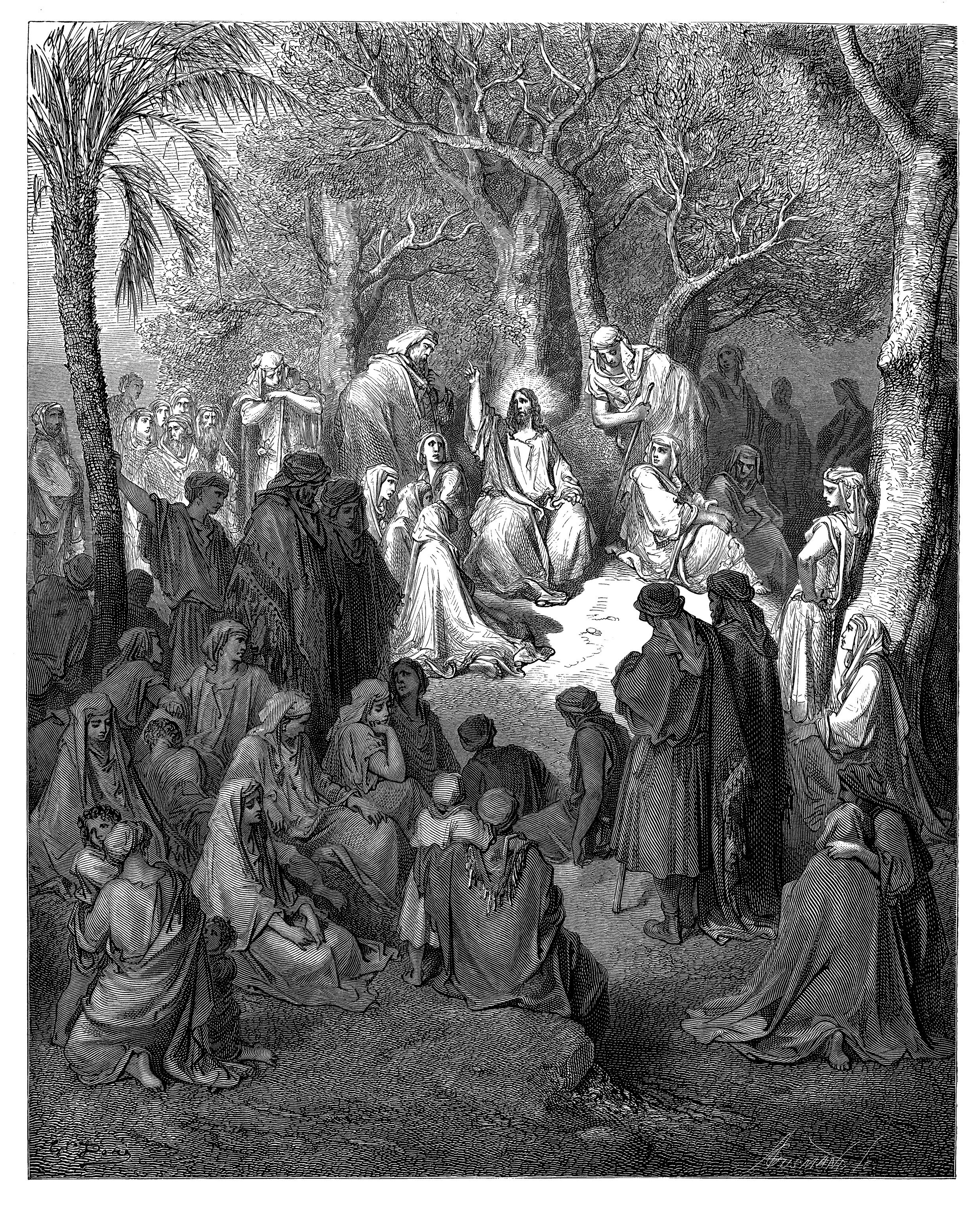 15 The Sermon On Mount Gustave Dore Bible Art Prints Introduction Of