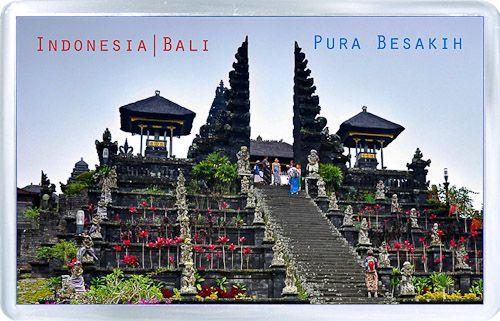 Acrylic Fridge Magnet: Indonesia. Mother Temple of Besakih (Pura Besakih). Bali