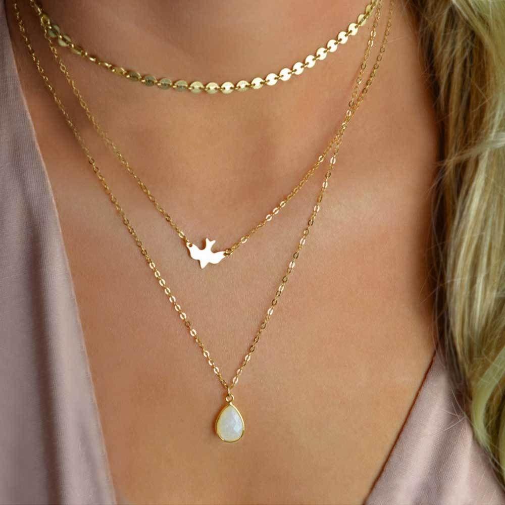 Boho Necklace Boho Jewelry Ethnic Pendant Necklace Boho Charm FREE BIRD Silver Bird Bohemian Necklace