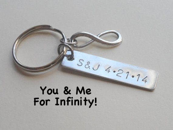 Infinity symbol keychain gift couples keychain anniversary gift