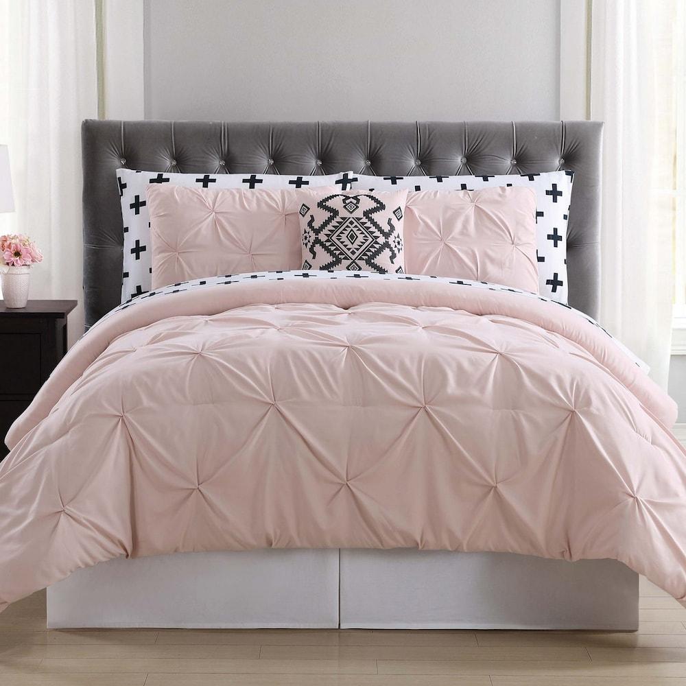Truly Soft Pueblo Pleated Comforter Bedding Set In 2020 Comforter Bedding Sets Bed Comforters Blush Bedding