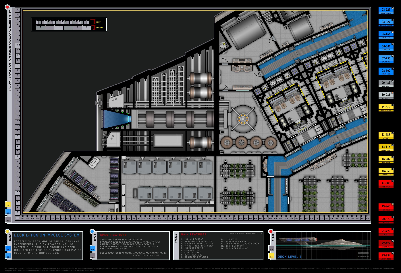Colored Schematic Of Fusion Reactor Columbia Class Starship U S S Enterprise Nx 01 Enterprise Nx 01 Star Trek Trek