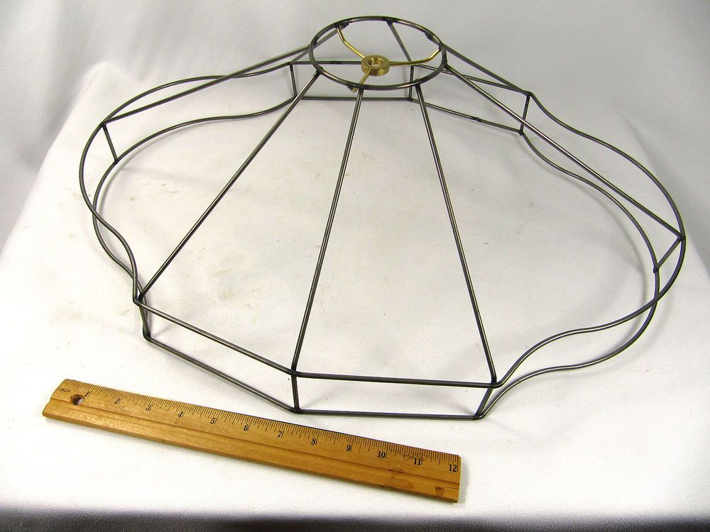 Lamp Shade Wire Frame Fancy Oval Bottom for Floor Lamp Large Custom Made