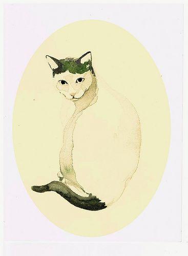 """acuarela gata """" Pequeña"""""""
