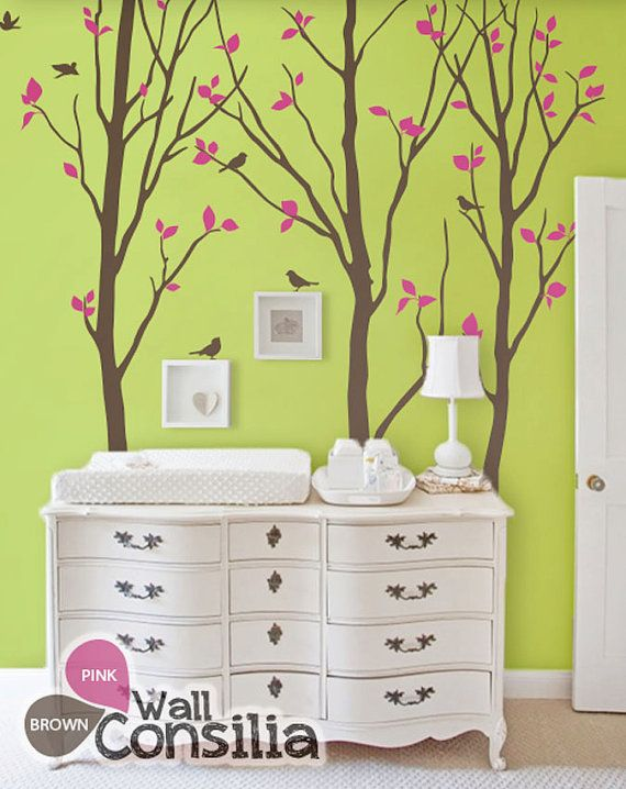 Baby Nursery Wall Decals Birch Trees Decal Tree by WallConsilia ...