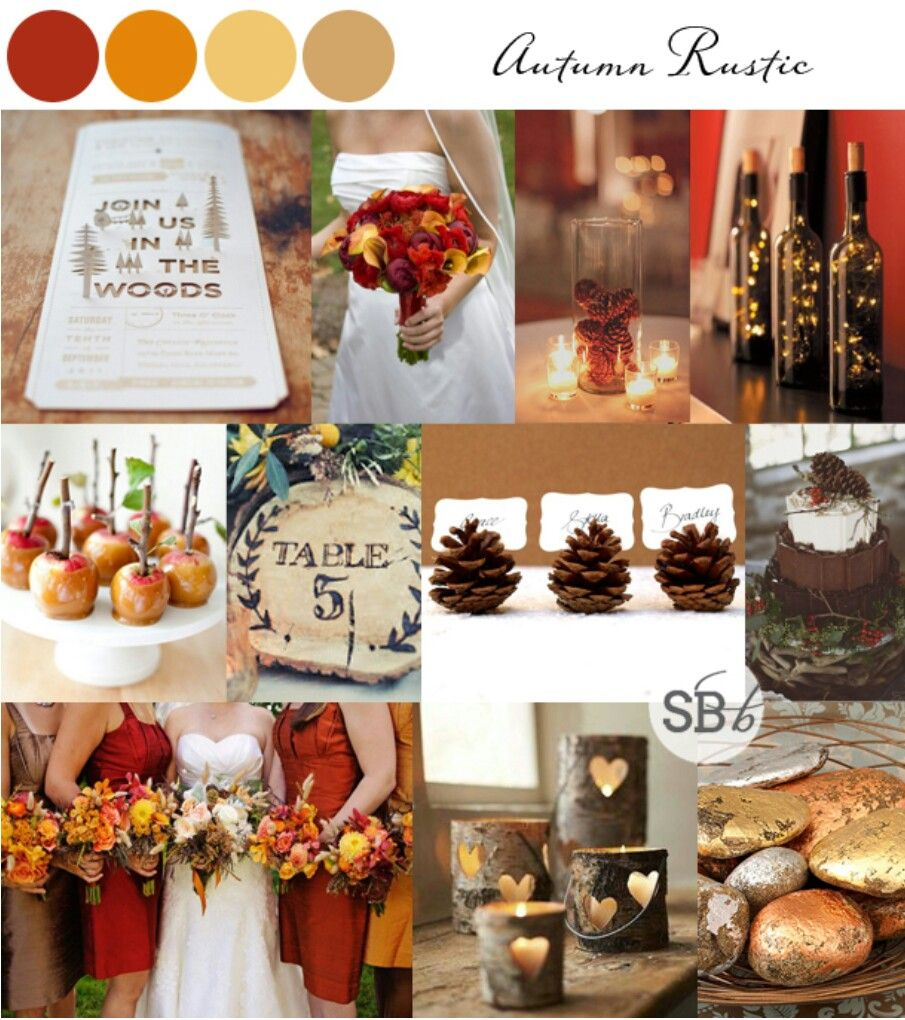 Autumn Wedding Colour Palettes by SouthBound Bride Fall