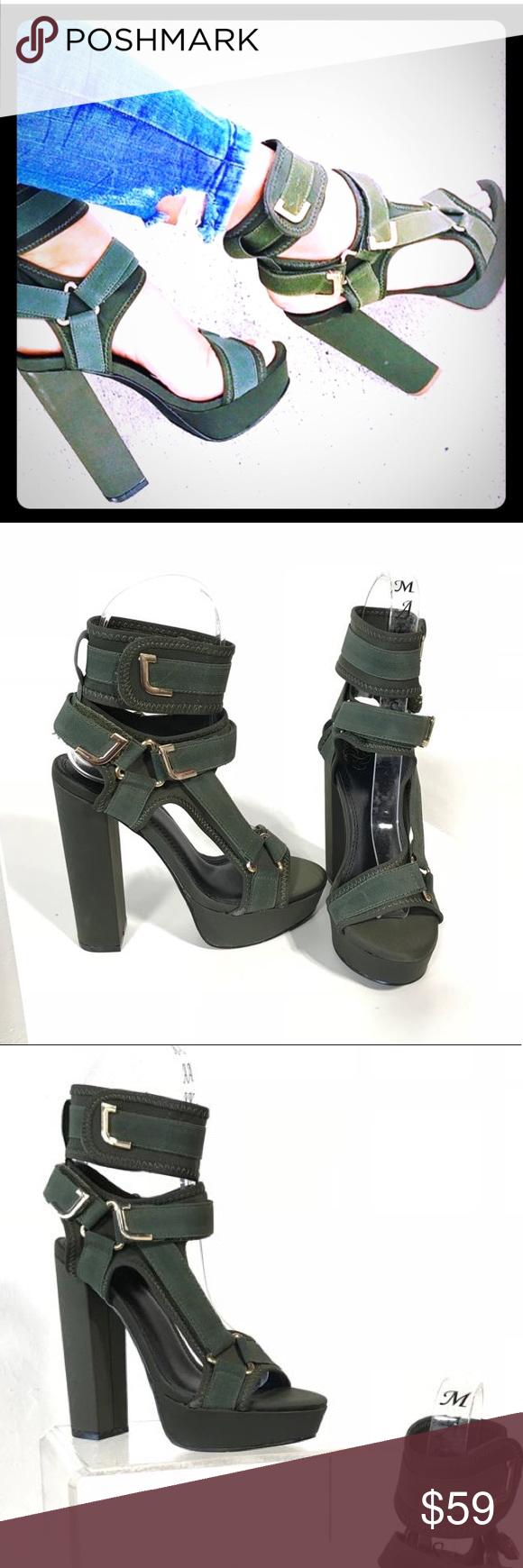 8dc45c38bf6 Liliana Glamrock Olive Green Heels Beautiful strappy heels by Liliana. Block  heels and platform. Medium width and true to size. Liliana Shoes Heels