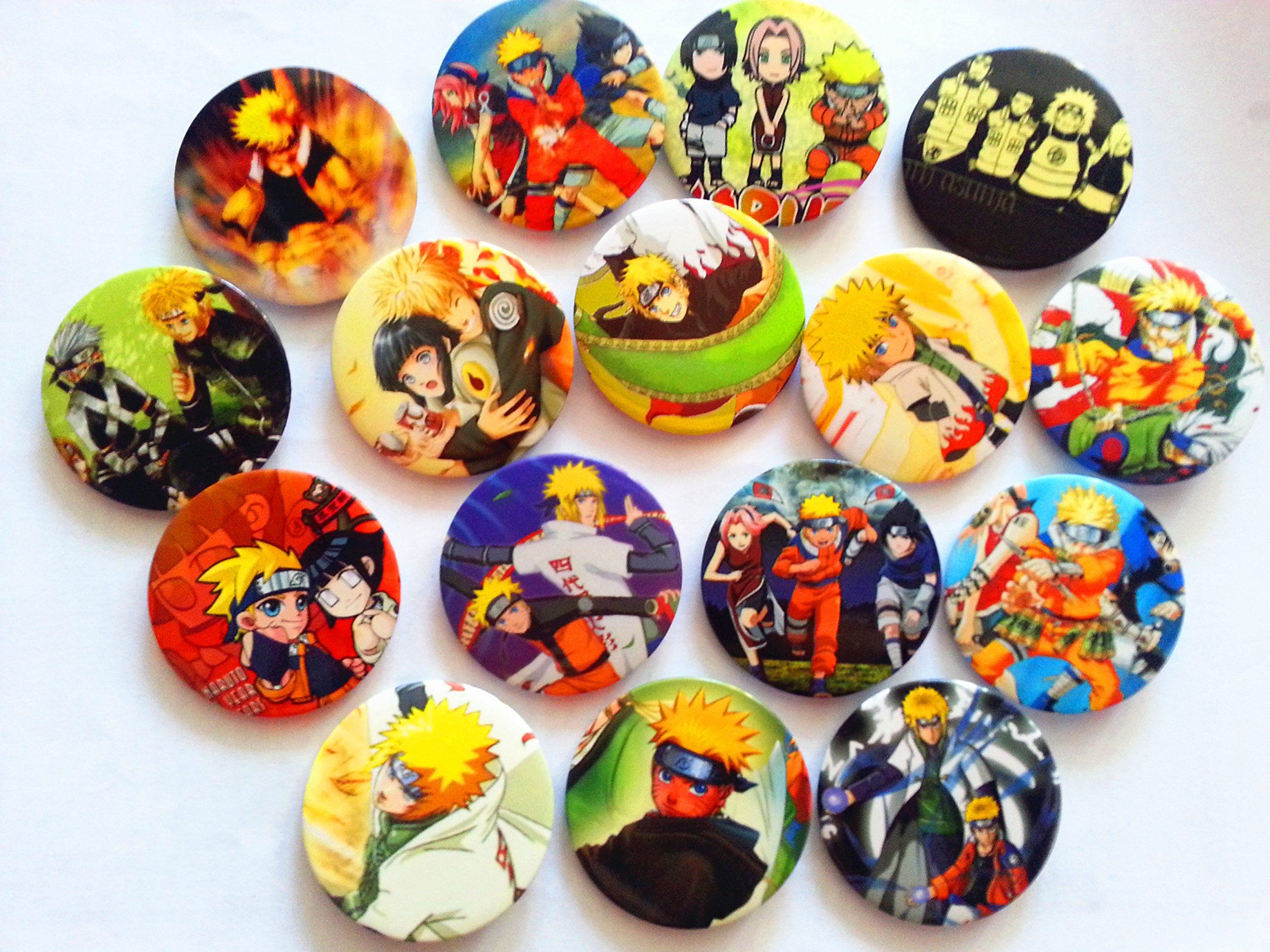 Cost 13.94 Naruto Anime Buttons Tin Badges/pin (45mm