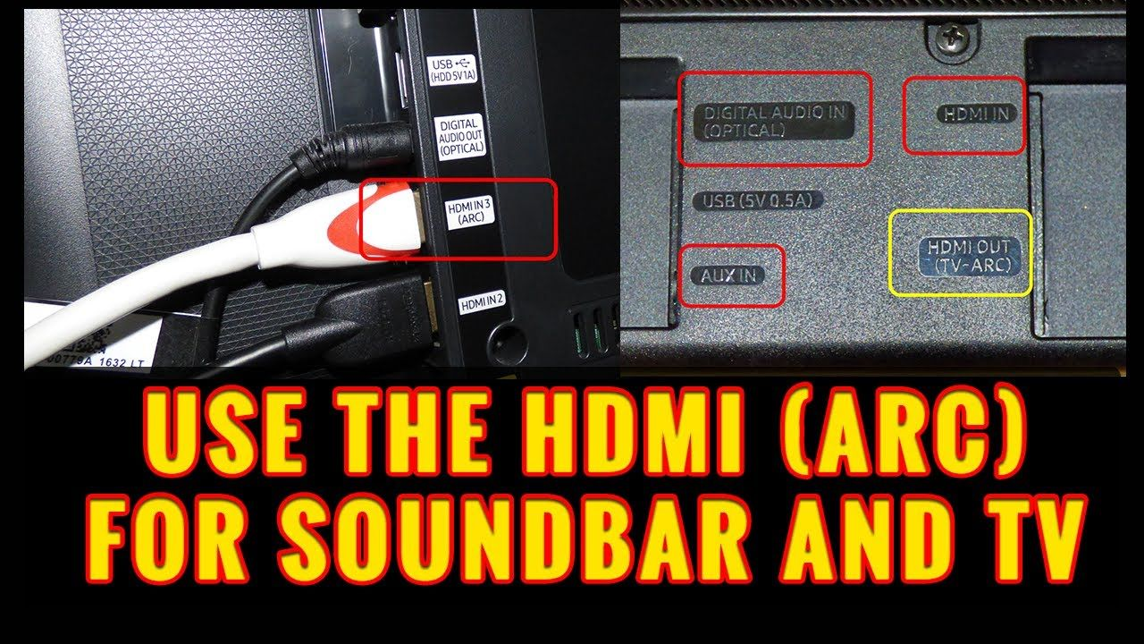 Use The Hdmi Arc Port On Your Soundbar And Tv Sound Bar Hdmi Pay Phone