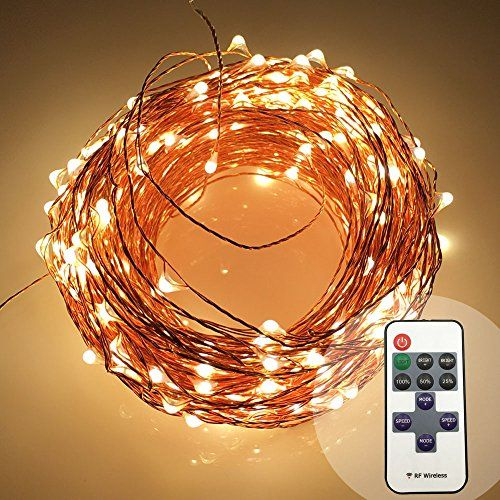 Micro Led String Lights Harrisontek 165Ft 500Led Rf Remote Control Dimmer Ul Certified