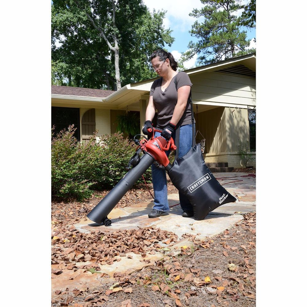 Craftsman Leaf Blower 2 Speed 12 Amp Lawn Yard Sweeper Vacuum Mulcher Bag New Craftsman Leaf Blower Blowers Stihl