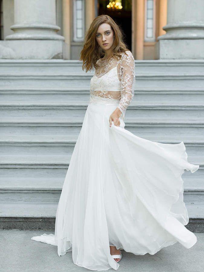 Etsy Flowy Silk Bridal Skirt | Dreamy Ivory Wedding Skirt ...