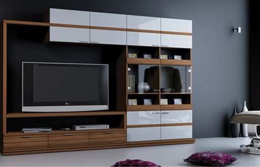 Modern Living Room Wall Units With Storage Inspiration | Living room ...