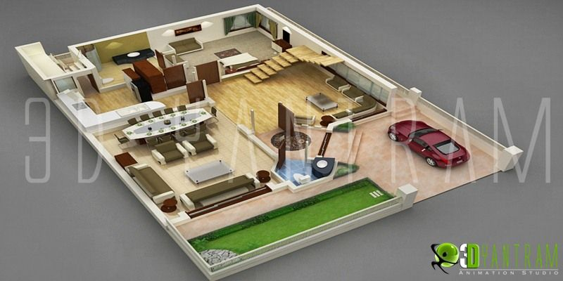 Small house design with floor plan 3d home