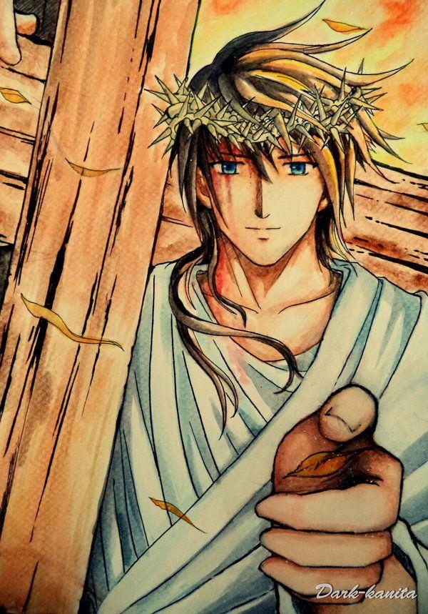Jesus Of Nazareth By Dark Kanita On Deviantart Desenho Cristao